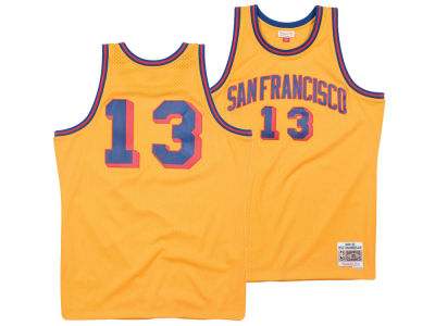 San Francisco Warriors Wilt Chamberlain Mitchell & Ness NBA Men's Hardwood Classic Swingman Jersey