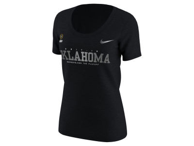Oklahoma Sooners Nike 2018 NCAA Women's College Football Playoff Bound Scoop T-Shirt