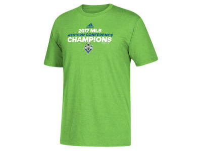 Seattle Sounders FC 2017 MLS Men's Conference Locker Room Champ T-Shirt