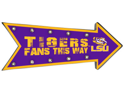 LSU Tigers Arrow Marquee Sign