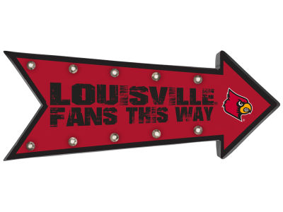 Louisville Cardinals Arrow Marquee Sign