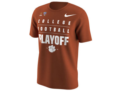 Clemson Tigers Nike 2018 NCAA Men's College Football Playoff Bound Stacked Logo T-Shirt