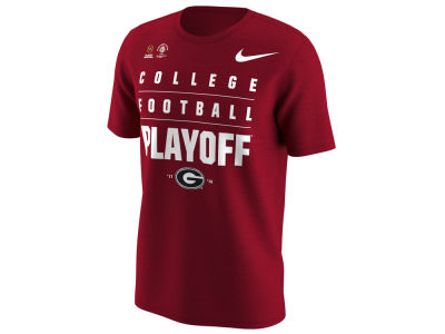 Georgia Bulldogs Nike 2018 NCAA Men's College Football Playoff Bound Stacked Logo T-Shirt
