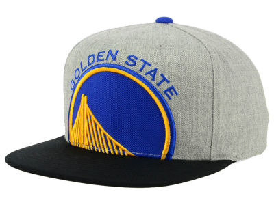 outlet store 4eff2 94b17 Golden State Warriors Mitchell   Ness NBA Cropped Heather Snapback Cap