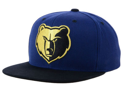 quality design 3228e a0204 Memphis Grizzlies Mitchell   Ness NBA Black   Gold Metallic Snapback Cap