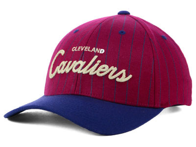 Cleveland Cavaliers Mitchell & Ness NBA Pinstripe Snapback Cap