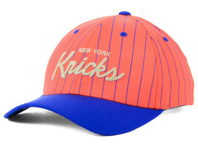 New York Knicks Mitchell & Ness NBA Pinstripe Snapback Cap