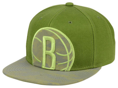 Brooklyn Nets Mitchell & Ness NBA Olive Reflective Camo Snapback Cap