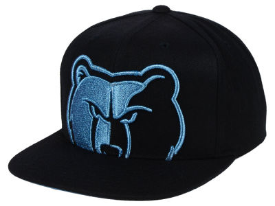 Memphis Grizzlies Mitchell & Ness NBA Metallic Cropped Snapback Cap