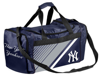 New York Yankees Forever Collectibles Border Stripe Duffle Bag