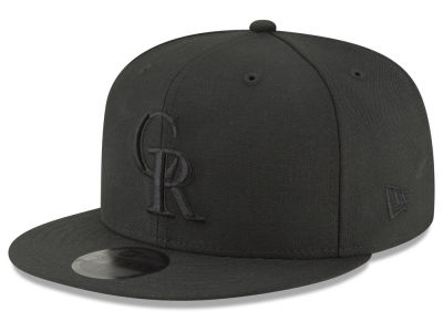 Colorado Rockies New Era MLB Blackout 59FIFTY Cap