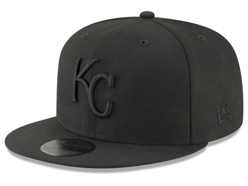 Kansas City Royals New Era MLB Blackout 59FIFTY Cap  6506cd56966