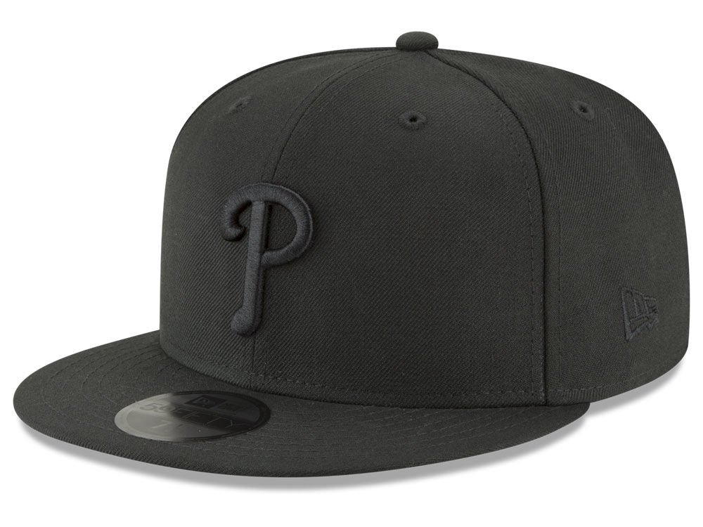 1d9342a6bbf Philadelphia Phillies New Era MLB Blackout 59FIFTY Cap