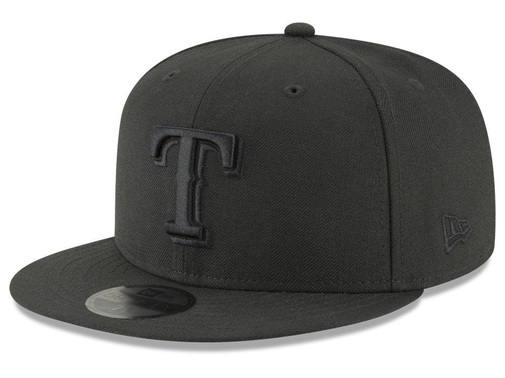 Texas Rangers New Era MLB Blackout 59FIFTY Cap a8bd76b2369