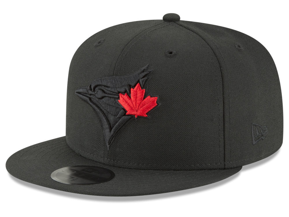 Toronto Blue Jays New Era MLB Blackout 59FIFTY Cap  c3af0c079b0