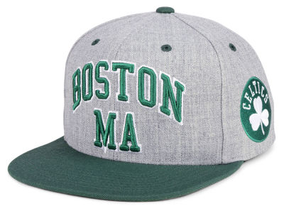 Boston Celtics Mitchell & Ness NBA Side Panel Cropped Snapback Cap