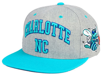 Charlotte Hornets Mitchell & Ness NBA Side Panel Cropped Snapback Cap
