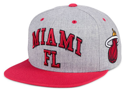 new product 22267 a0fb3 ... cheapest miami heat mitchell ness nba side panel cropped snapback cap  5315b a244a