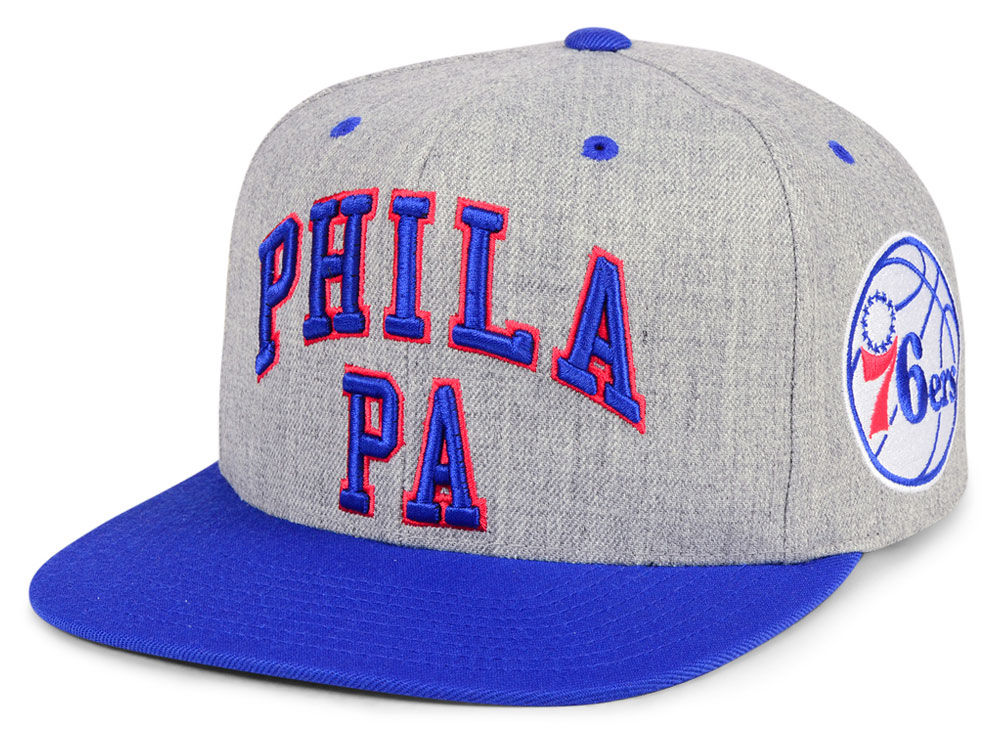 quality design 738cf 9433f ... purchase philadelphia 76ers mitchell ness nba side panel cropped  snapback cap lids 827f2 5aa8d