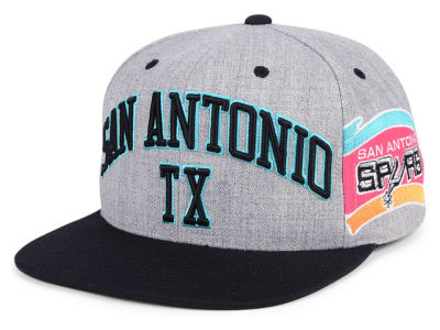 San Antonio Spurs Mitchell & Ness NBA Side Panel Cropped Snapback Cap