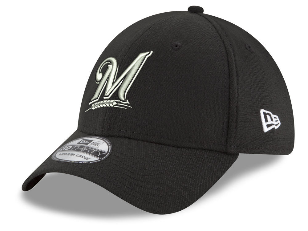 new products e6019 615d6 canada milwaukee brewers new era mlb dub classic 39thirty cap 41065 ae363