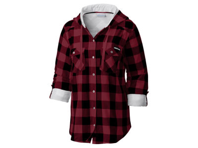 Oklahoma Sooners Columbia NCAA Women's Collegiate Silver Ridge Flannel Shirt