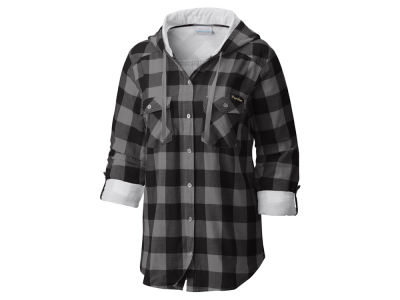 Purdue Boilermakers Columbia NCAA Women's Collegiate Silver Ridge Flannel Shirt