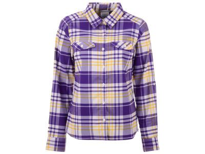 LSU Tigers Columbia NCAA Women's Collegiate Silver Ridge Flannel Shirt