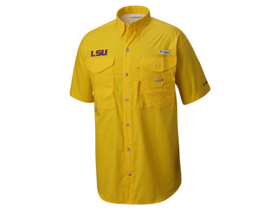 LSU Tigers Columbia NCAA Men's Bonehead Button Up 3X Shirt