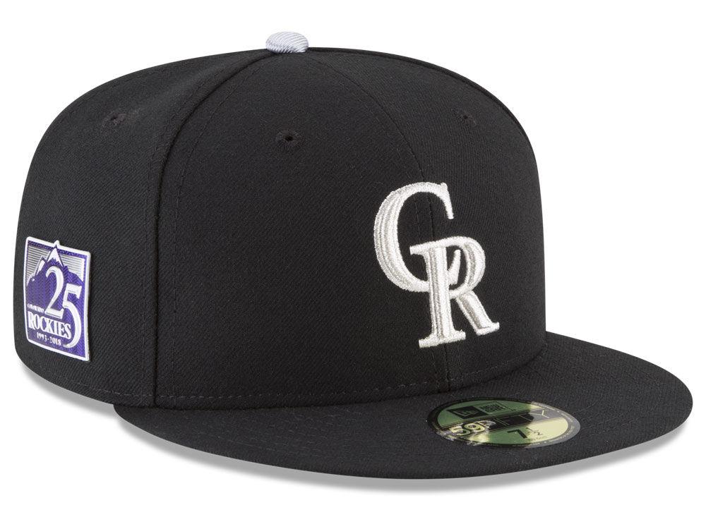 Colorado Rockies New Era MLB Authentic Collection 25th Anniversary 59FIFTY  Cap  24c86b1243c