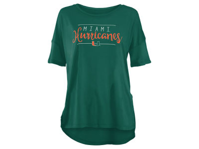 Miami Hurricanes NCAA Women's Hip Script Modal Crew T-Shirt
