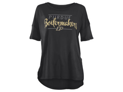 Purdue Boilermakers Pressbox NCAA Women's Hip Script Modal Crew T-Shirt