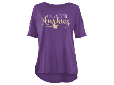 Washington Huskies NCAA Women's Hip Script Modal Crew T-Shirt