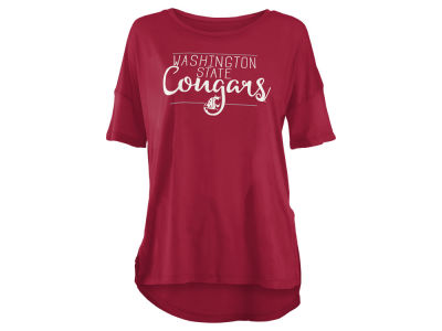 Washington State Cougars NCAA Women's Hip Script Modal Crew T-Shirt