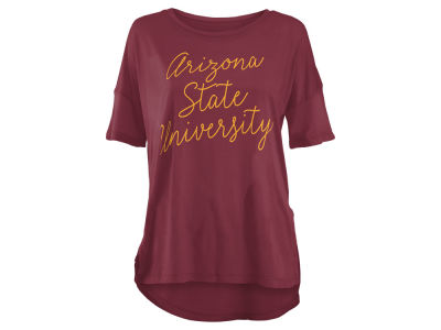 Arizona State Sun Devils Pressbox NCAA Women's Riley Script Modal Crew T-Shirt