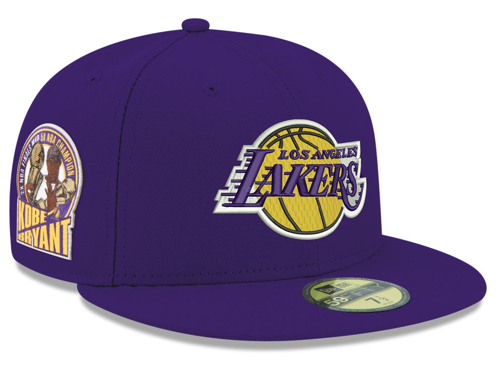 Los Angeles Lakers KOBE BRYANT New Era NBA Kobe Patch 59FIFTY Cap ... b8d8c2ab21bb