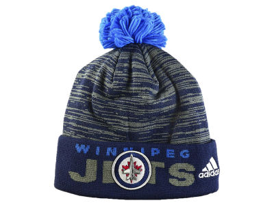 Winnipeg Jets adidas NHL Locker Room Cuffed Pom Knit