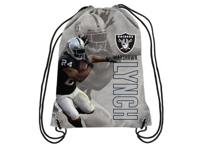 Oakland Raiders Marshawn Lynch Player Printed Drawstring Bag