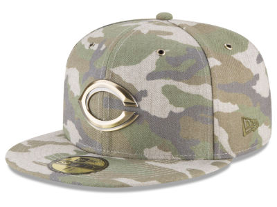 Cincinnati Reds New Era MLB Antique Camo 59FIFTY Cap