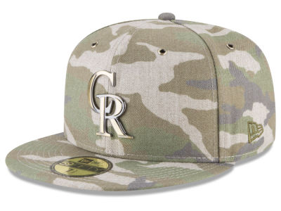 Colorado Rockies New Era MLB Antique Camo 59FIFTY Cap