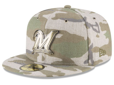 Milwaukee Brewers New Era MLB Antique Camo 59FIFTY Cap