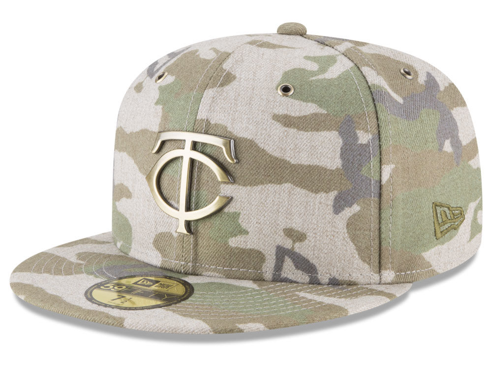 bebf82f3649 50% off minnesota twins new era mlb antique camo 59fifty cap 5f898 a6b5e