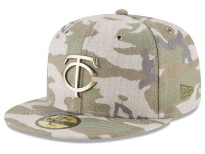 Minnesota Twins New Era MLB Antique Camo 59FIFTY Cap