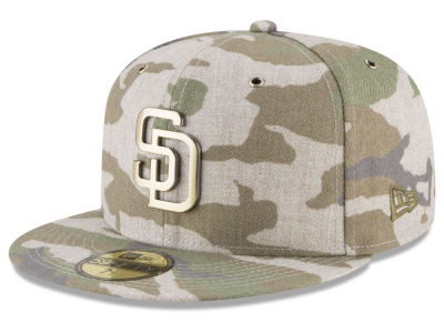San Diego Padres New Era MLB Antique Camo 59FIFTY Cap