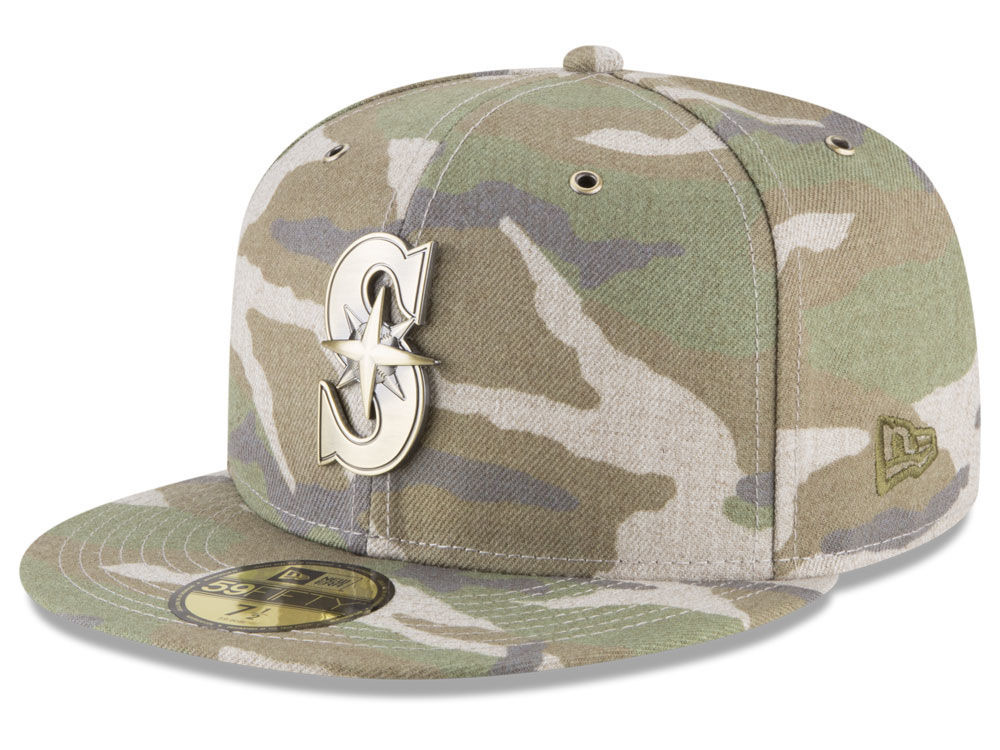 best service 1d37c 74535 ... where to buy seattle mariners new era mlb antique camo 59fifty cap  61ec5 bfd1d