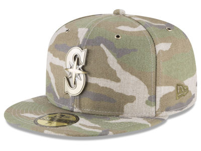Seattle Mariners New Era MLB Antique Camo 59FIFTY Cap