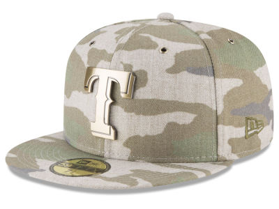 Texas Rangers New Era MLB Antique Camo 59FIFTY Cap