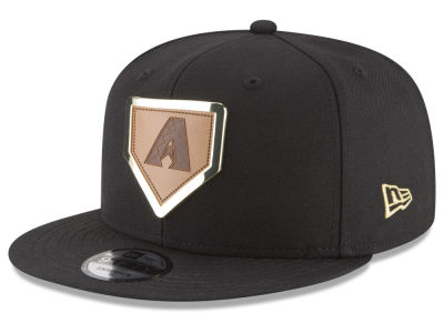 Arizona Diamondbacks New Era MLB Framed Leather 9FIFTY Snapback Cap