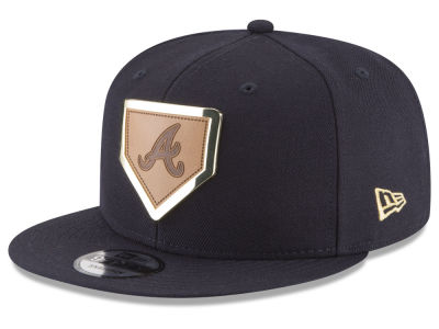 Atlanta Braves New Era MLB Framed Leather 9FIFTY Snapback Cap