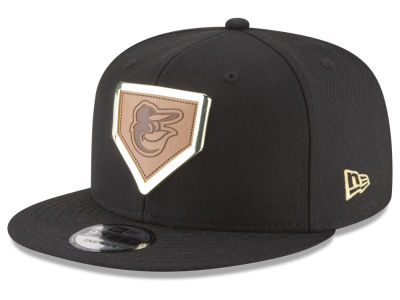 Baltimore Orioles New Era MLB Framed Leather 9FIFTY Snapback Cap
